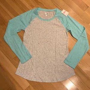 Justice Girl's long sleeve raglan top - size 14/16